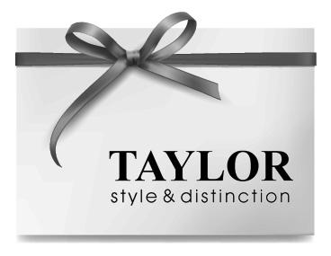 Carte-cadeau Taylor